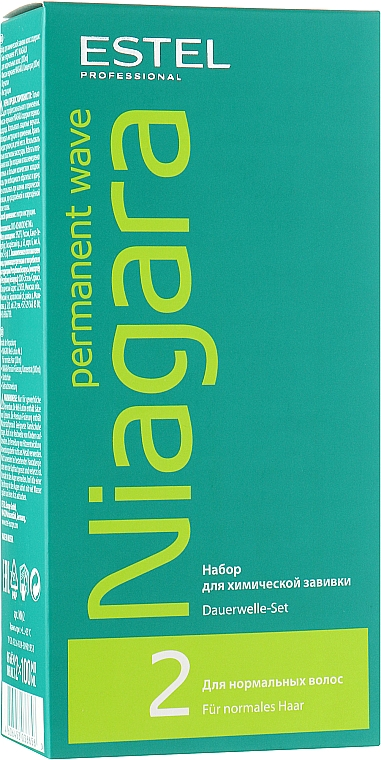 Набор для химической завивки для нормальных волос - Estel Professional Niagara Permanent Wave (fix/100ml + lot/100ml + gloves)