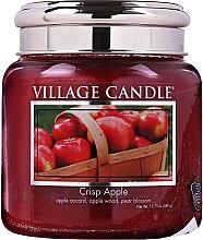Духи, Парфюмерия, косметика Ароматическая свеча в банке - Village Candle Crisp Apple