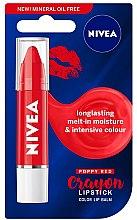 Духи, Парфюмерия, косметика Бальзам для губ - Nivea Poppy Red Crayon Lipstick