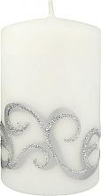 Духи, Парфюмерия, косметика Декоративная свеча, белая с завитушками, 7x10 см - Artman Christmas Ornament