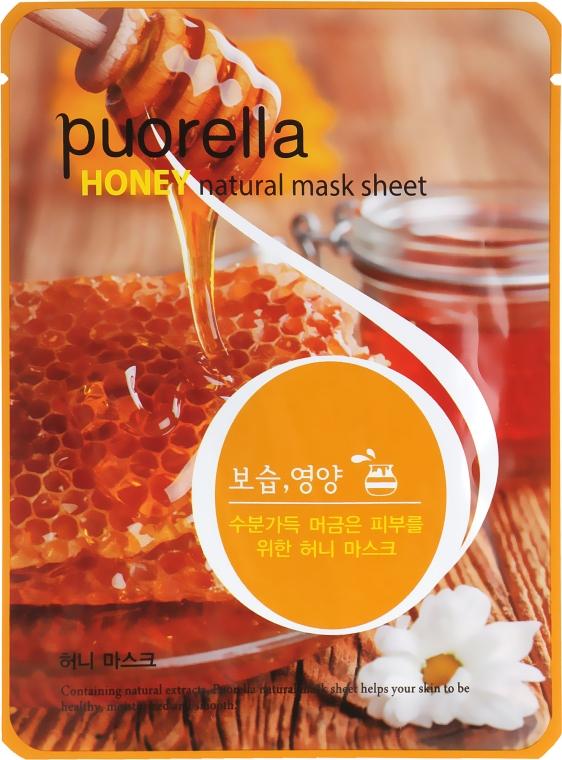Тканевая маска для лица с медом - Puorella Honey Natural Mask Sheet