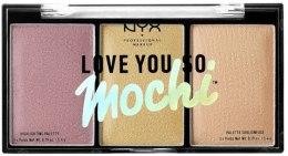 Духи, Парфюмерия, косметика Палетка хайлайтеров - NYX Professional Makeup Love You So Mochi Highlighting Palette