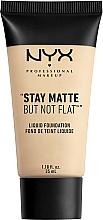 Духи, Парфюмерия, косметика Тональная основа - NYX Professional Makeup Stay Matte But Not Flat Liquid Foundation