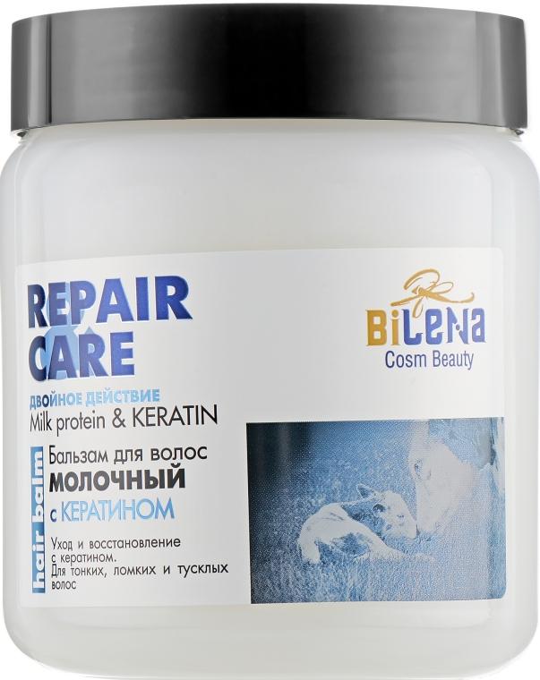 Бальзам для волос «Молочный» с кератином для тонких, ломких и тусклых волос - Bilena Silk Protein & Keratin Extract