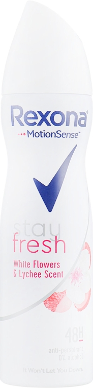 "Антиперспирант-спрей ""Белые цветы и Личи"" - Rexona MotionSense Stay Fresh Antiperspirant Spray"