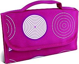 """Духи, Парфюмерия, косметика Косметичка, принт """"Спирали"""", средняя, розовая - Donegal Cosmetic Bag"""