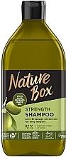 Духи, Парфюмерия, косметика Шампунь для укрепления длинных волос и противодействия ломкости с оливковым маслом холодного отжима - Nature Box Strength Vegan Shampoo With Cold Pressed Olive Oil