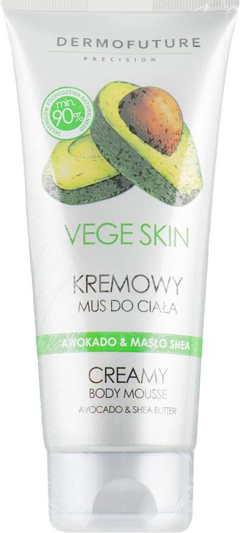 "Кремовый мусс для тела ""Авокадо и масло ши - DermoFuture Vege Skin Creamy Body Mousse Avocado & Shea Butter — фото N1"