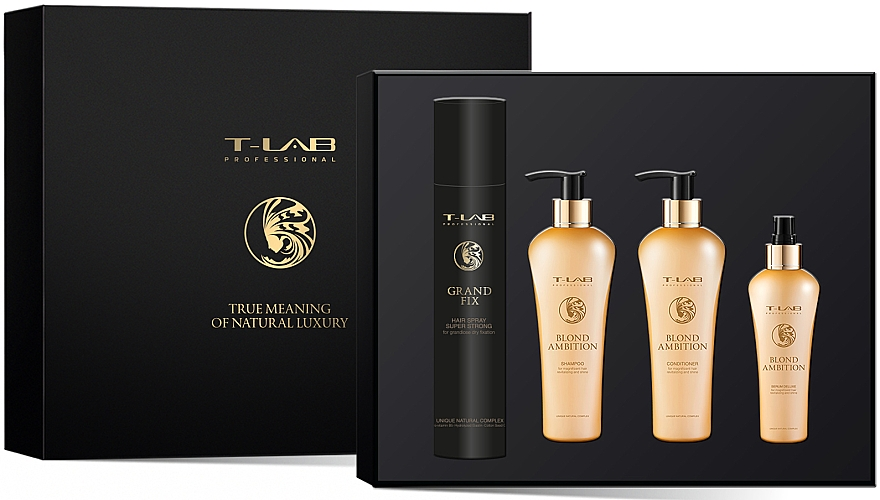 Набор - T-LAB Professional Blond Ambition (h/ser/130ml + h/cond/250ml + h/shm/250ml + h/spr/300ml)
