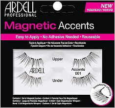 Парфумерія, косметика Накладні вії  - Ardell Magnetic Lashes Accents 001