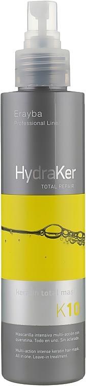 Маска для волос кератин + аргановое масло 10 в 1 - Erayba HydraKer K10 Keratin Total Mask