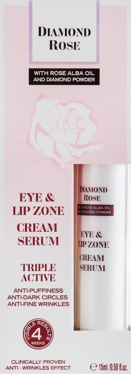 Крем сыворотка для контура глаз и губ - BioFresh Diamond Rose Eye & Lip Zone Cream Serum