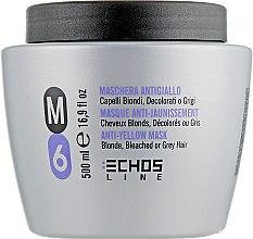 Духи, Парфюмерия, косметика Маска для светлых и седых волос с антижелтым эффектом - Echosline M6 Anti-Yellow Mask
