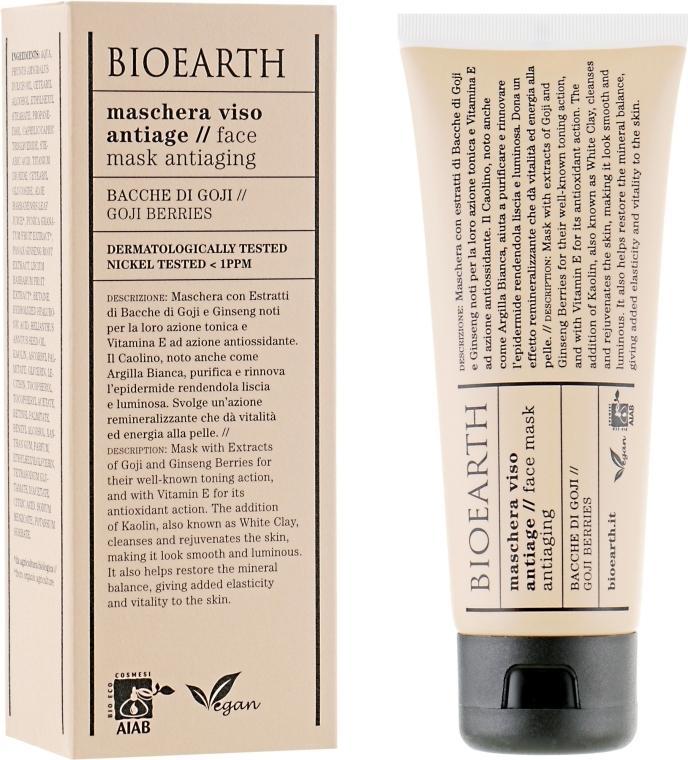 Маска для лица, омолаживающая - Bioearth Anti-Aging Goji Berry Face Mask