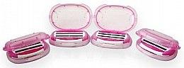 Сменные кассеты для бритья, 4 шт. - Dorco Shai 3+3 Double 3Blade System for Women — фото N3