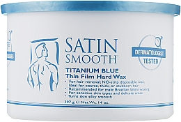 Духи, Парфюмерия, косметика Горячий воск банка титаново-синий - Satin Smooth Titanium Blue Wax