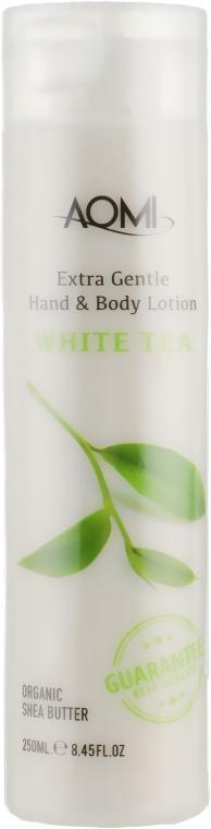Лосьон для рук и тела с экстрактом белого чая - Aomi Extra Gentle Hand & Body Lotion White Tea