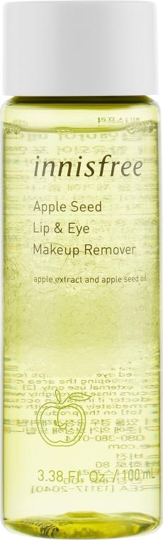 Средство с экстрактом яблока для снятия макияжа с губ и глаз - Innisfree Apple Seed Lip & Eye Makeup Remover