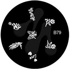Духи, Парфюмерия, косметика Диск для стемпинга, B-79 - Nails Molekula