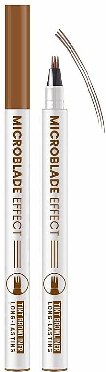 "Маркер для бровей ""Microblade Effect"" - Belor Design Tint Browliner"