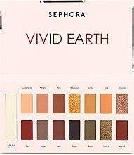 Палетка теней - Sephora Vivid Earth Palette Premium — фото N1