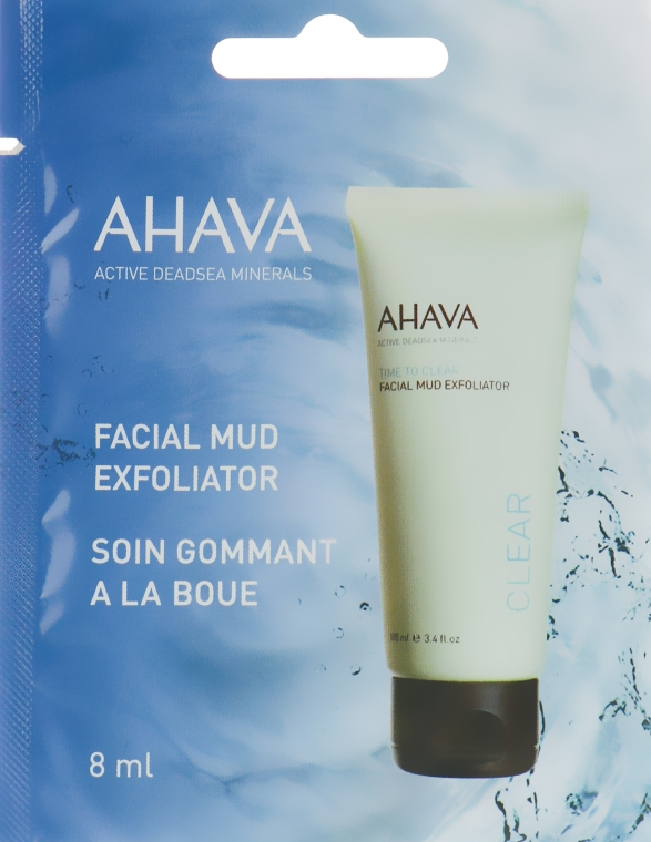 Грязевой пилинг для лица - Ahava Time To Clear Facial Mud Exfoliator (пробник)