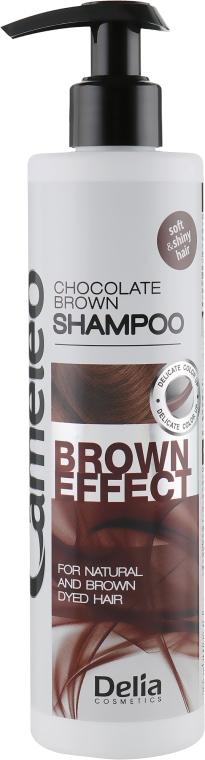 Шампунь с эффектом углубления цвета для коричневых волос - Delia Cameleo Brown Effect Shampoo