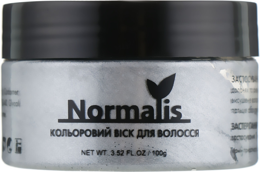 Цветной воск для волос, серебристый - Normalis