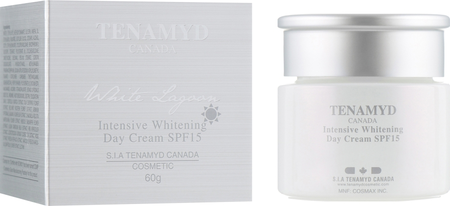 Интенсивно отбеливающий дневной крем с SPF15 для кожи с пигментацией - Tenamyd Canada White Lagoon Intensive Whitening Day Cream SPF15 — фото N1