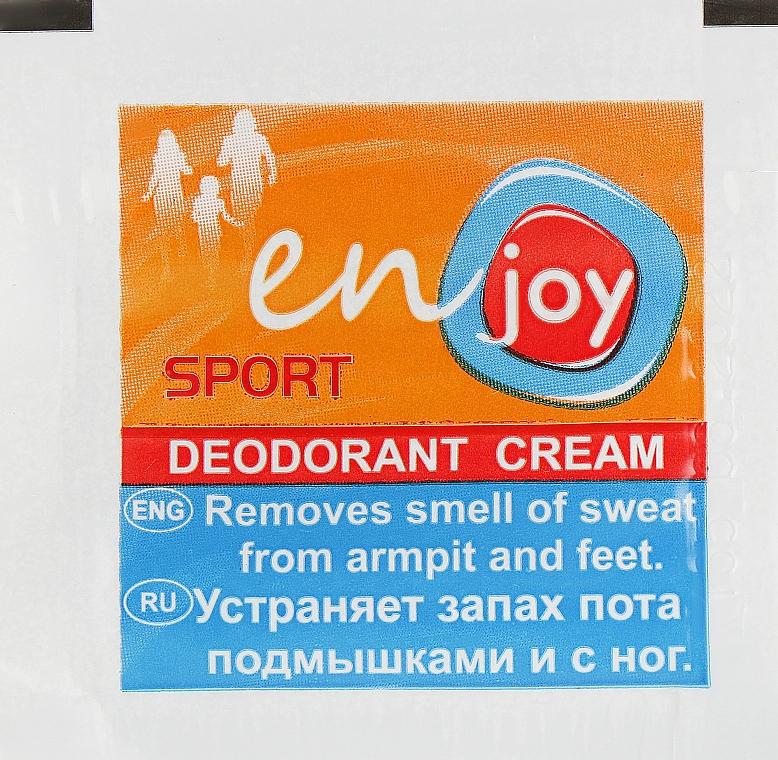 Эко-крем-дезодорант - Enjoy & Joy Sport Deodorant Cream (пробник)