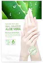 Духи, Парфюмерия, косметика Увлажняющая маска для рук с экстрактом алоэ вера - Nature Republic Real Squeeze Aloe Vera Moisture Hand Mask