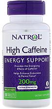 Духи, Парфюмерия, косметика Кофеин, 200 мг - Natrol High Caffeine, Extra Strength