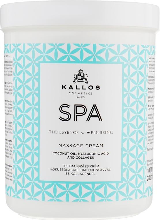 Крем для массажа с кокосовым маслом, гиалуроновой кислотой и коллагеном - Kallos Cosmetics SPA Hand&Foot Care Massage Cream