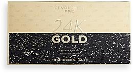 Духи, Парфюмерия, косметика Палетка теней для век - Revolution PRO 24K Gold Eye Shadow Palette