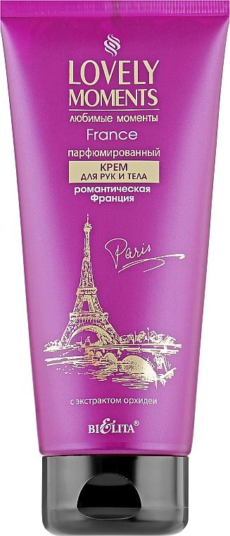 """Парфюмированный крем для рук и тела """"Романтическая Франция"""" - Bielita Lovely Moments Hand&Body Cream"""