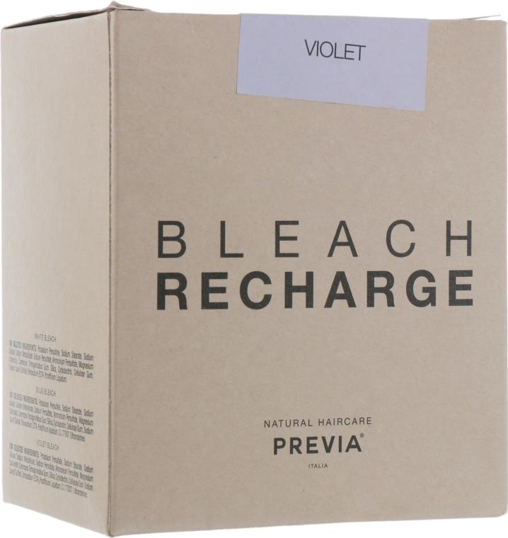 Беспылевая осветляющая пудра, фиолетовая - Previa Bleach (запасная упаковка)