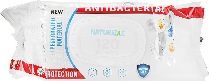 """Салфетки влажные """"Антибактериальные"""", 120шт - Naturelle Antibacterial D-Panthenol"""