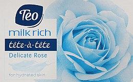 "Духи, Парфюмерия, косметика Туалетное мыло ""Delicate Rose"" - Teo Tete-a-Tete Milk Rich Soap"