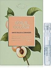 Духи, Парфюмерия, косметика Maurer & Wirtz 4711 Acqua Colonia White Peach & Coriander - Одеколон (пробник)