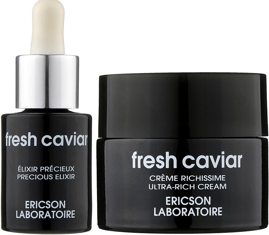 Набор «Интенсивная анти-эйдж терапия» - Ericson Laboratoire Fresh Caviar (cr/50ml + elixir/15ml)