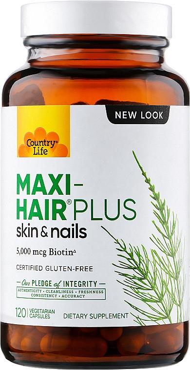 Витамины для волос, кожи и ногтей - Country Life Maxi-Hair Plus