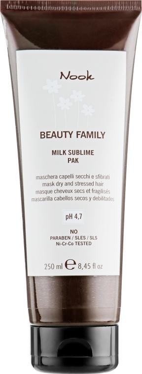 Маска-молочко для сухих и поврежденных волос - Nook Beauty Family Milk Sublime Mask