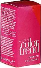 Духи, Парфюмерия, косметика Лак для ногтей - Avon Color Trend Confetti