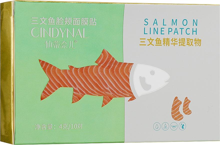 Тканевые патчи для лица от носогубных складок и морщин с экстрактом лосося - Cindynal Salmon Line Patch