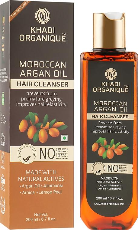 """Натуральный безсульфатный шампунь """"Марроканское аргановое масло"""" - Khadi Organique Moroccan Argan Oil Hair Cleanser"""