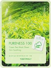Духи, Парфюмерия, косметика Тканевая маска с экстрактом зеленого чая - Tony Moly Pureness 100 Green Tea Mask Sheet