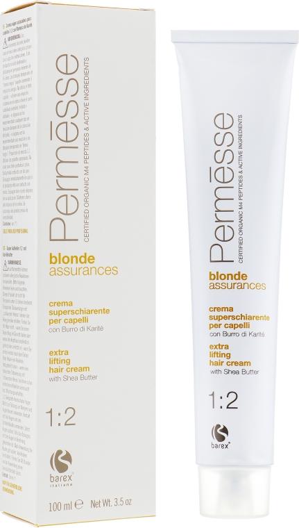 Крем-краска для волос с маслом карите - Barex Italiana Permesse Blonde Assurances 1:2