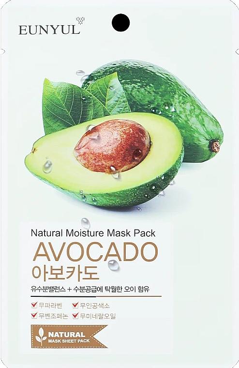 Увлажняющая тканевая маска для лица с авокадо - Eunyul Natural Moisture Mask Pack Avocado