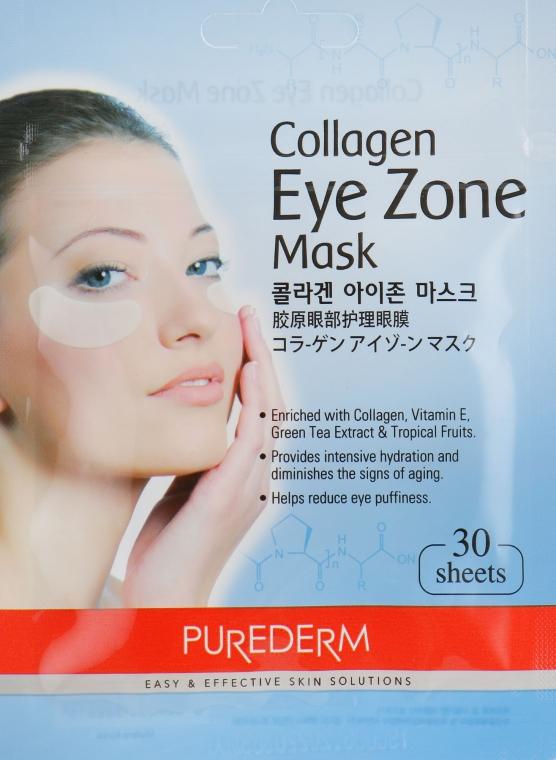 Набор тканевых патчей под глаза с коллагеном - Purederm Collagen Eye Zone Mask