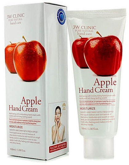 "Крем для рук ""Яблоко"" - 3W Clinic Apple Hand Cream"